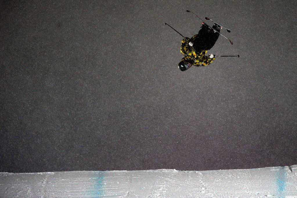 . ASPEN, CO - January 26: Gus Kenworthy prepares to land during the men\'s Ski Big Air Final at Winter X Games Aspen 2013 at Buttermilk Mountain on Jan. 26, 2013, in Aspen, Colorado. Kenworthy finished in fifth. (Photo by Daniel Petty/The Denver Post)