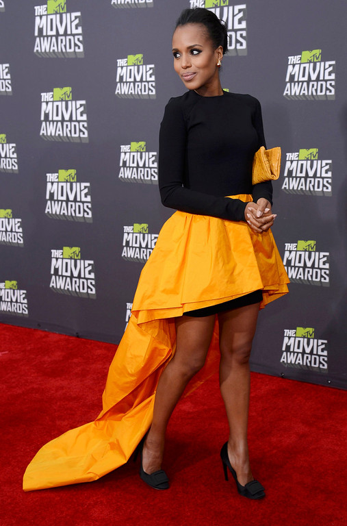 . Actress Kerry Washington arrives at the 2013 MTV Movie Awards in Culver City, California April 14, 2013.  REUTERS/Phil McCarten