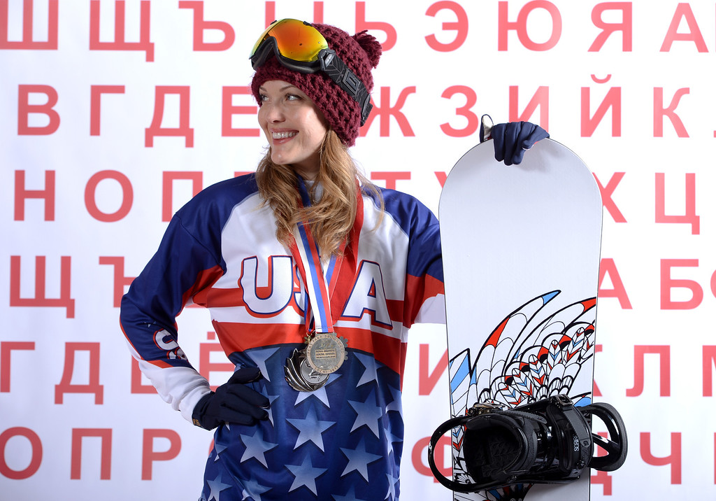 . Para Snowboarder Amy Purdy poses for a portrait during the USOC Media Summit ahead of the Sochi 2014 Winter Olympics on October 1, 2013 in Park City, Utah.  (Photo by Harry How/Getty Images)