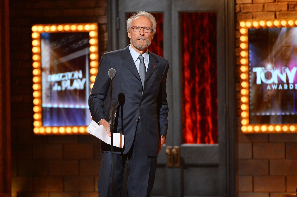 . Actor Clint Eastwood speaks onstage during the 68th Annual Tony Awards at Radio City Music Hall on June 8, 2014 in New York City.  (Photo by Theo Wargo/Getty Images for Tony Awards Productions)