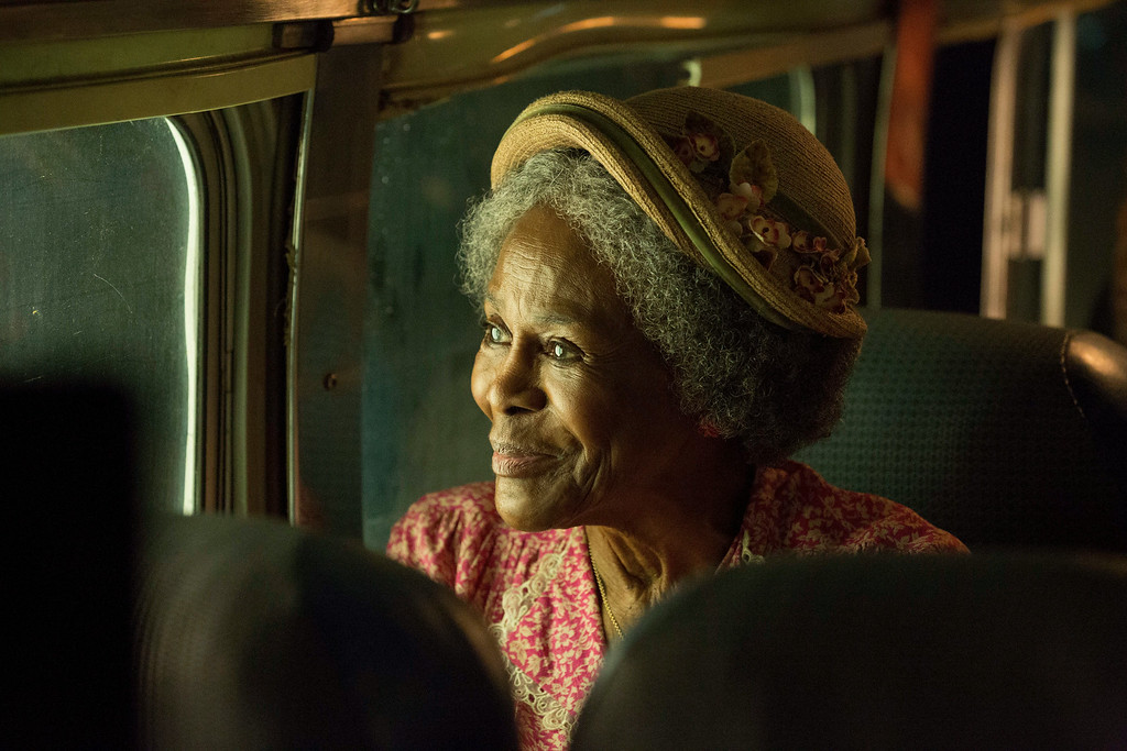 ". This image released by Lifetime shows Cicely Tyson in a scene from ""The Trip to Bountiful.\"" Tyson was nominated for an Emmy Award for best actress in a miniseries or movie on Thursday, July 10, 2014. The 66th Primetime Emmy Awards will be presented Aug. 25 at the Nokia Theatre in Los Angeles. (AP Photo/Lifetime, Bob Mahoney)"