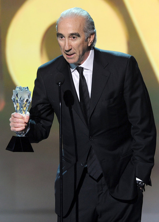 ". Co-CEO of MGM Gary Barber accepts the Best Action Movie Award for ""Skyfall\"" onstage at the 18th Annual Critics\' Choice Movie Awards held at Barker Hangar on January 10, 2013 in Santa Monica, California.  (Photo by Kevin Winter/Getty Images)"