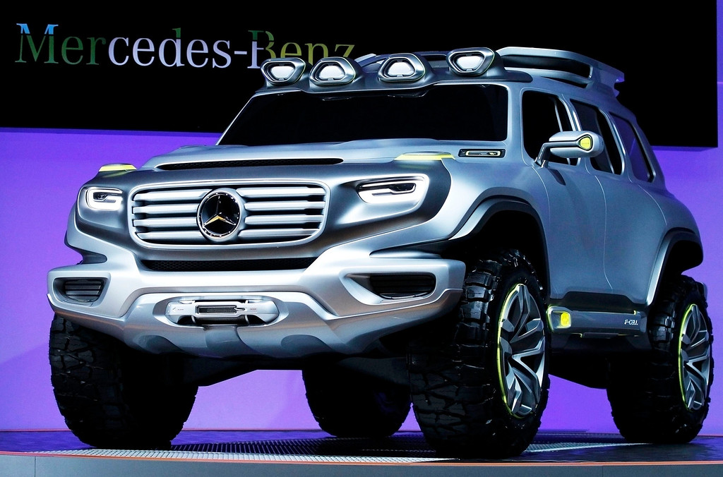 . The Mercedes-Benz Vision Energy Force concept truck vehicle comes on stage at the 2012 Los Angeles Auto Show in Los Angeles, California November 28, 2012.   REUTERS/Mario Anzuoni