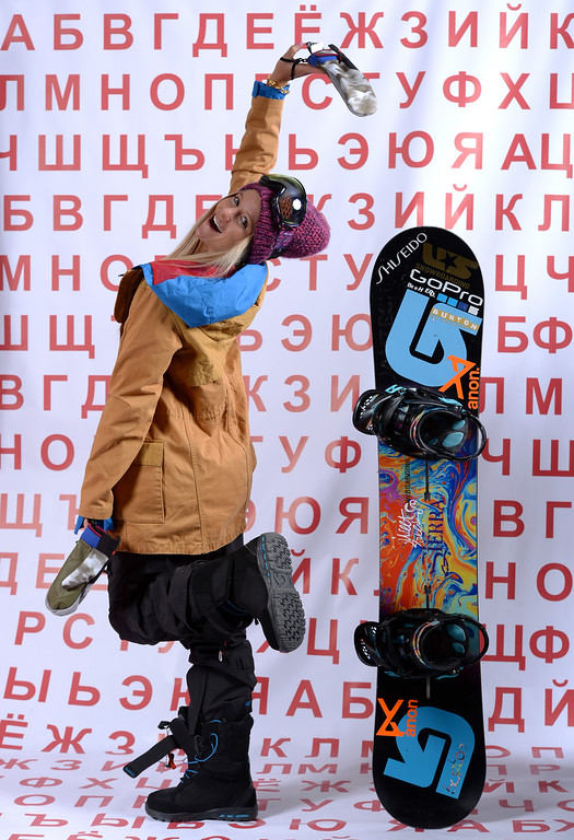 . Snowboarder Hannah Teter poses for a portrait during the USOC Media Summit ahead of the Sochi 2014 Winter Olympics on October 2, 2013 in Park City, Utah.  (Photo by Harry How/Getty Images)