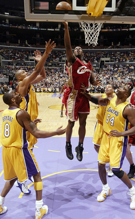 . 2001: Kedrick Brown (No 1)* Was traded to Boston before the draft) Kedrick Brown #5 of the Cleveland Cavaliers shoots a layup over the Los Angeles Lakers during the game at Staples Center on January 12, 2004 in Los Angeles, California.  The Lakers won 89-79.( Photo by Stephen Dunn/Getty Images)