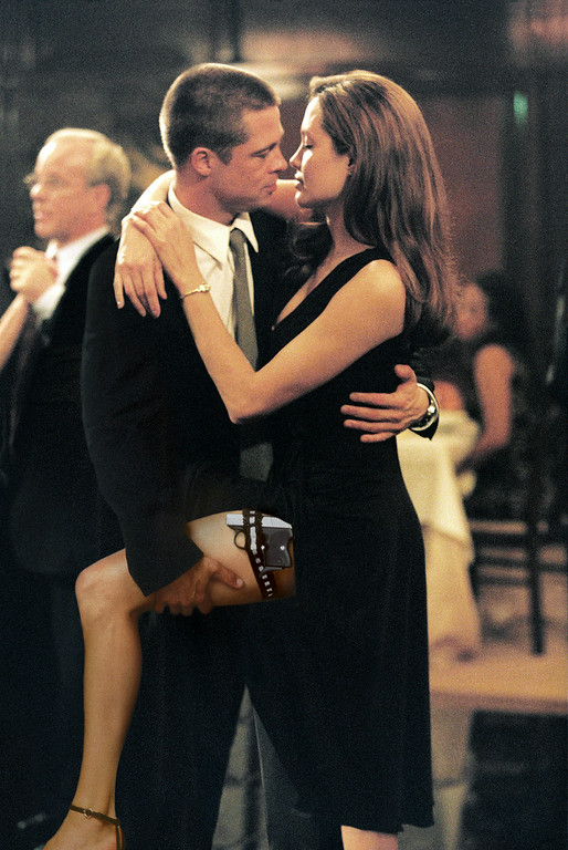 """. In this undated file photo provided by Twentieth Century Fox, as John Smith, played by Brad Pitt, and Jane Smith, portrayed by Angelina Jolie, do a sexy tango, more of their secrets are uncovered in \""""Mr. & Mrs. Smith.\"""" (AP Photo/Twentieth Century Fox, Stephen Vaughn, File)"""