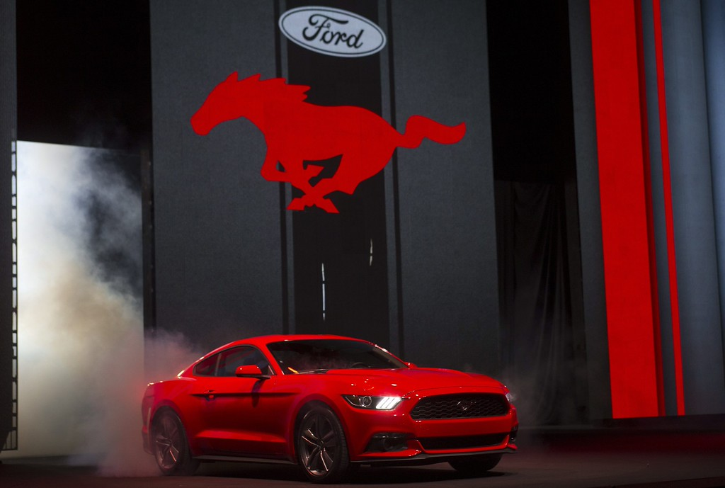 . A view of the 2015 Ford Mustang at a press event in Barcelona, Catalonia, Spain, 05 December 2013.  EPA/ALEJANDRO GARCIA