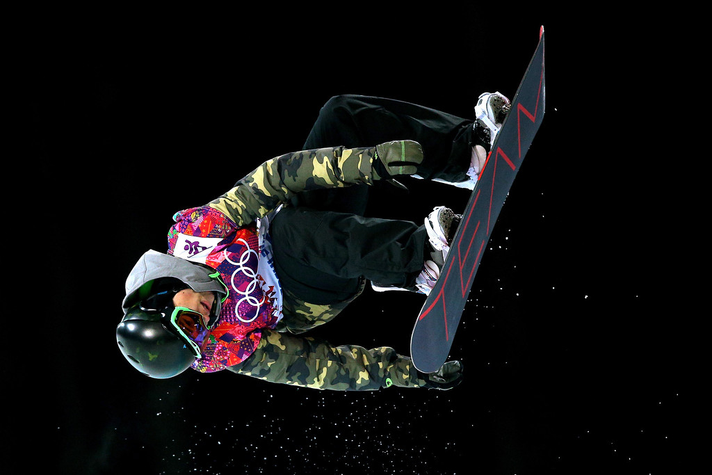 . Tim-Kevin Ravnjak of Slovakia competes in the Snowboard Men\'s Halfpipe Finals on day four of the Sochi 2014 Winter Olympics at Rosa Khutor Extreme Park on February 11, 2014 in Sochi, Russia.  (Photo by Cameron Spencer/Getty Images)