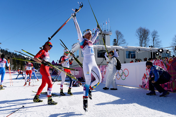 PHOTOS: Sochi 2014 Winter Olympics- Ladies' Skiathlon 7.5 km Classic + 7.5 km Free