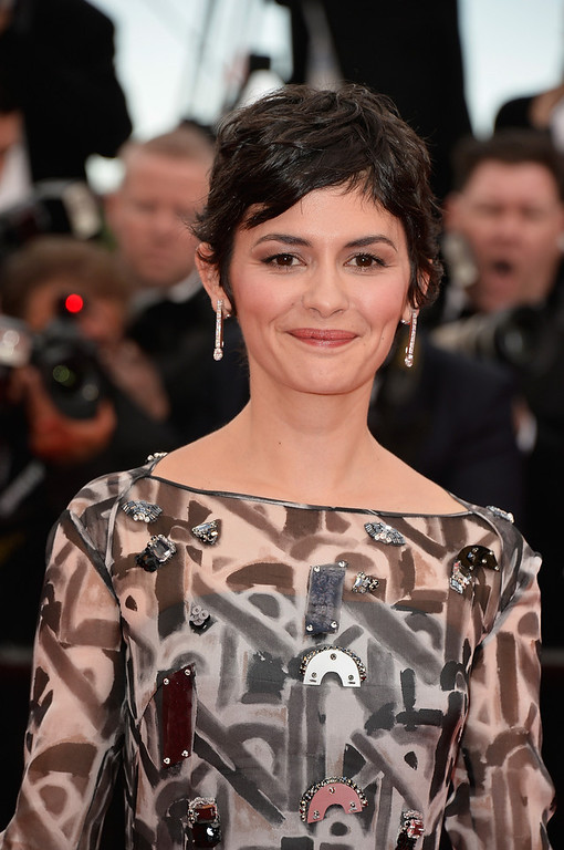 """. Actress Audrey Tautou attends the Opening ceremony and the \""""Grace of Monaco\"""" Premiere during the 67th Annual Cannes Film Festival on May 14, 2014 in Cannes, France.  (Photo by Pascal Le Segretain/Getty Images)"""