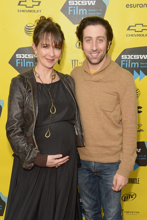 ". Co-director Jocelyn Towne and actor/co-director Simon Helberg attend the ""We\'ll Never Have Paris\"" premiere during the 2014 SXSW Music, Film + Interactive Festival at the Topfer Theatre at ZACH on March 10, 2014 in Austin, Texas.  (Photo by Michael Loccisano/Getty Images for SXSW)"