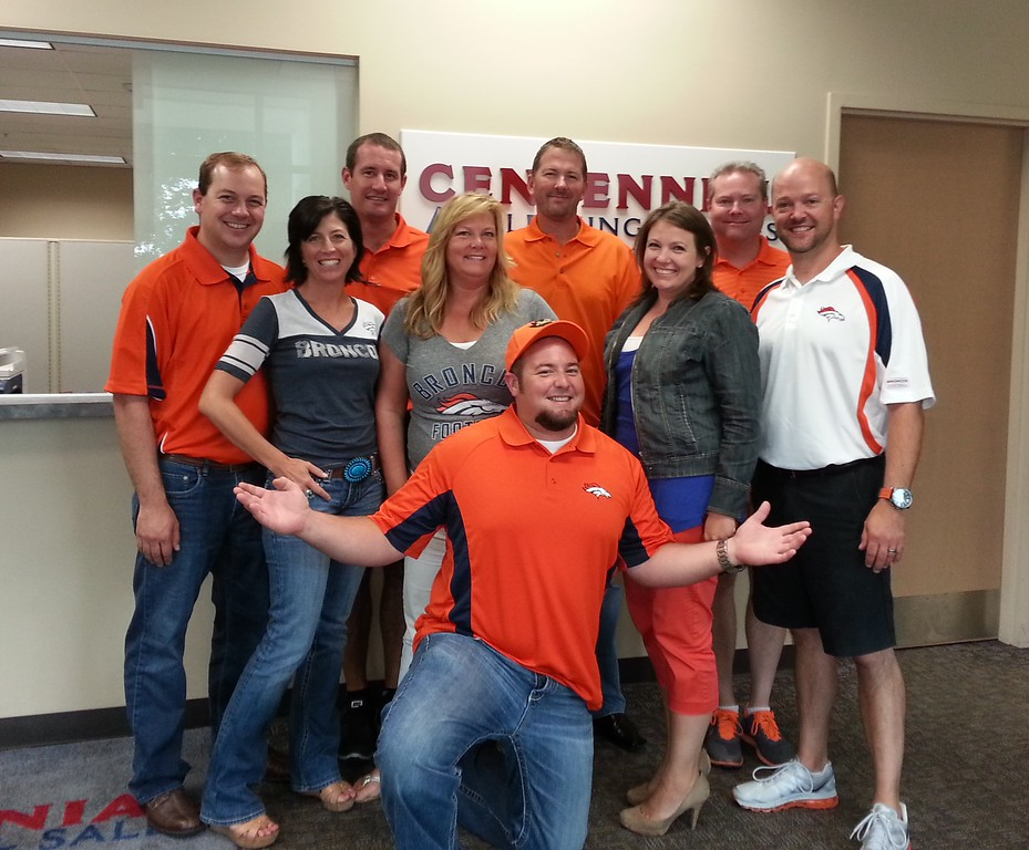 . Centennial Leasing & Sales is representing- now off to the game! Photo by Mary