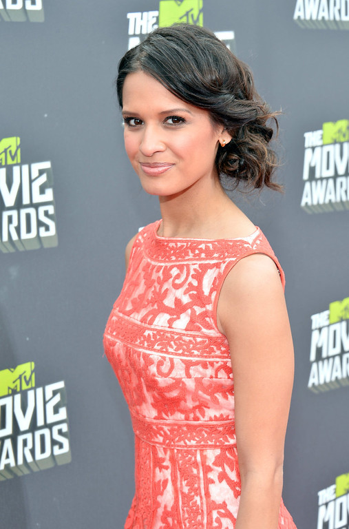 . TV personality Rocsi Diaz arrives at the 2013 MTV Movie Awards at Sony Pictures Studios on April 14, 2013 in Culver City, California.  (Photo by Alberto E. Rodriguez/Getty Images)