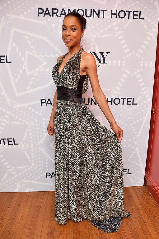 . Actress Sophie Okonedo, winner of the Tony Award for Best Performance by an Actress in a Featured Role in a Play for \'A Raisin in the Sun\' poses in the Paramount Hotel Winners\' Room at the 68th Annual Tony Awards on June 8, 2014 in New York City.  (Photo by Mike Coppola/Getty Images for Tony Awards Productions)