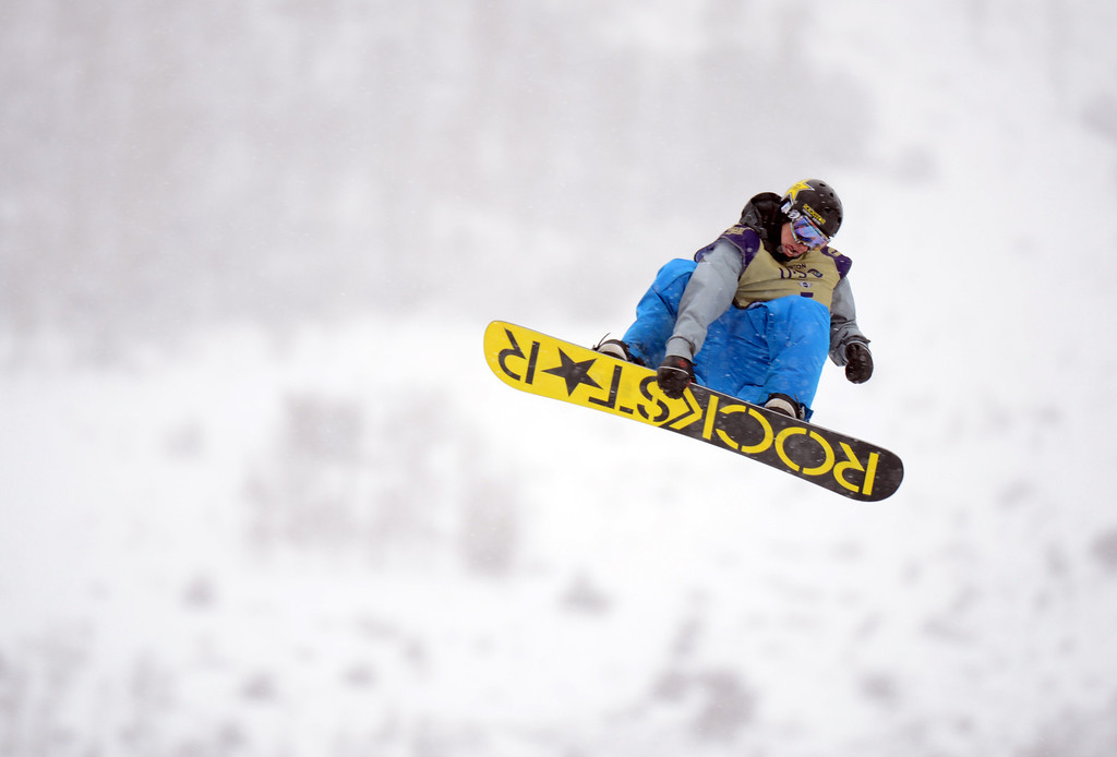 . VAIL, CO. - MARCH 1: Chas Guldemond is in action during the men\'s slopestyle final of Burton U.S. Open. March 1, 2013. Vail, Colorado. (Photo By Hyoung Chang/The Denver Post)