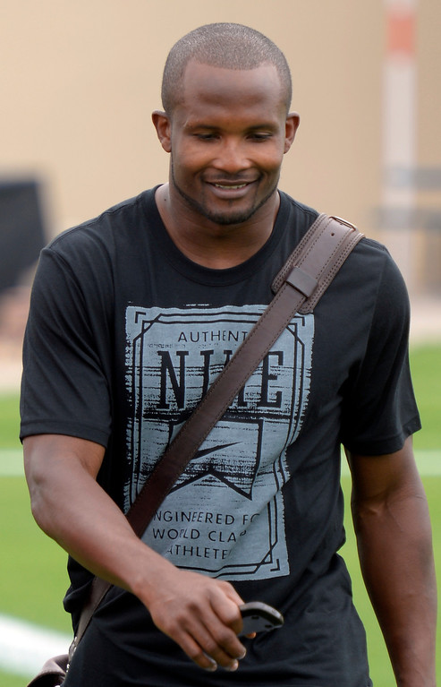 . Denver Broncos CB Champ Bailey reports to camp July 24, 2013 at Dove Valley. (Photo By John Leyba/The Denver Post)