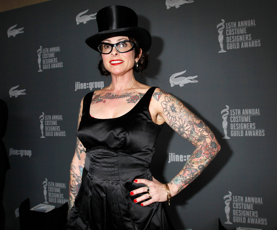 . Costume designer Julie Vogel arrives at the 15th Annual Costume Designers Guild Awards in Beverly Hills  February 19, 2013.  REUTERS/Fred Prouser