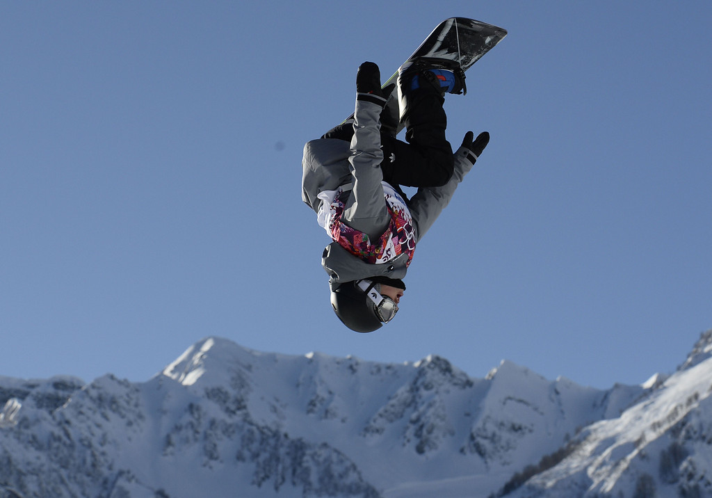 . Austria\'S Mathias Wesissenbacher competes in the Men\'s Snowboard Slopestyle first heat qualification at the Rosa Khutor Extreme Park during the Sochi Winter Olympics on February 6, 2014.  AFP PHOTO / FRANCK FIFE/AFP/Getty Images