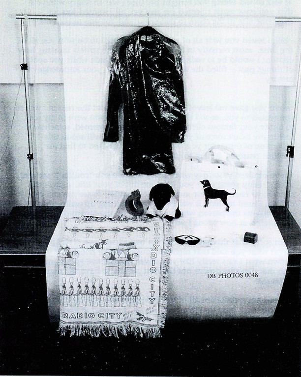 . A photograph showing the blue dress worn by former White House intern Monica Lewinsky along with other items related to her relationship with President Bill Clinton submitted as evidence in documents Ken Starr investigation and released by the House Judicary committee September 21, 1998.