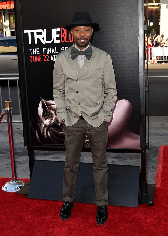 ". Actor Nelsan Ellis attends the premiere of HBO\'s ""True Blood\"" season 7 and final season at TCL Chinese Theatre on June 17, 2014 in Hollywood, California.  (Photo by Jason Merritt/Getty Images)"