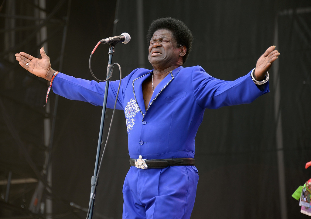 . CHICAGO, IL - AUGUST 03:  Charles Bradley performs during Lollapalooza 2013 at Grant Park on August 3, 2013 in Chicago, Illinois.  (Photo by Theo Wargo/Getty Images)