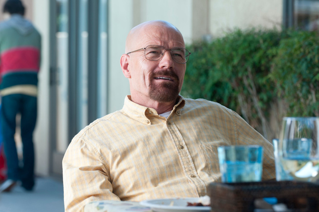 ". Walter White (Bryan Cranston) - Breaking Bad_Season 5, Episode 8_""Gliding Over All\"" - Photo Credit: Lewis Jacobs/AMC"
