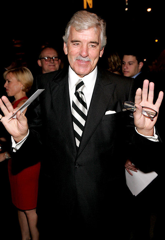 ". Actor Dennis Farina attends the play opening night of ""Jersey Boys\"" at the August Wilson Theater November 6, 2005 in New York City.  (Photo by Paul Hawthorne/Getty Images)"