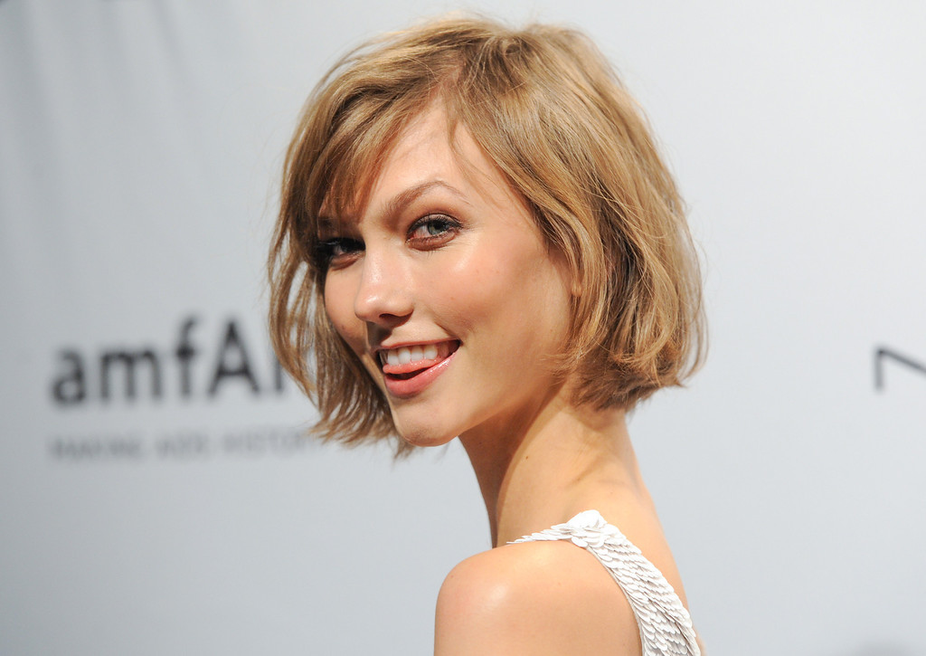. Model Karlie Kloss attends amfAR\'s New York gala at Cipriani Wall Street on Wednesday, Feb. 6, 2013 in New York. (Photo by Evan Agostini/Invision/AP)