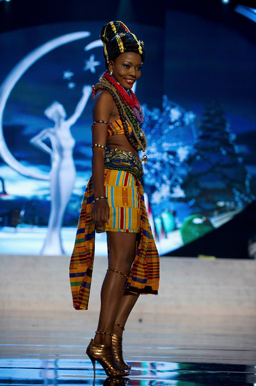 . Miss Ghana Gifty Ofori performs onstage at the 2012 Miss Universe National Costume Show at PH Live in Las Vegas, Nevada December 14, 2012. The 89 Miss Universe contestants will compete for the Diamond Nexus Crown on December 19, 2012. REUTERS/Darren Decker/Miss Universe Organization L.P./Handout