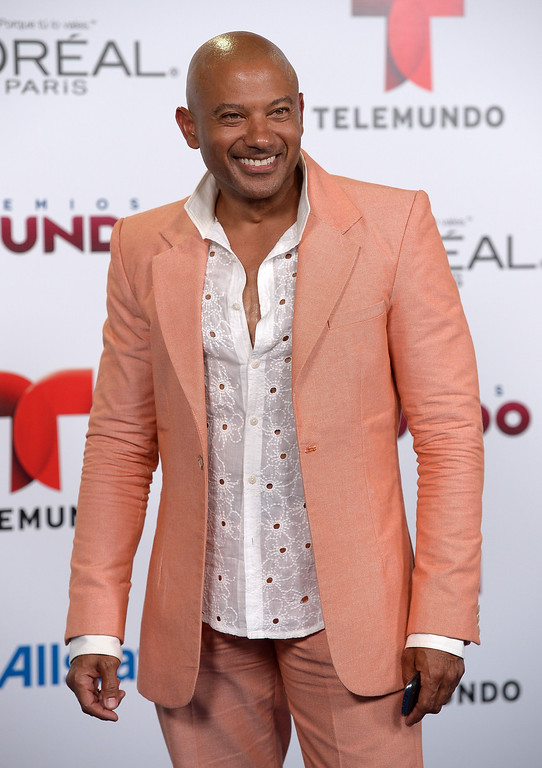 . MIAMI, FL - AUGUST 15:  Pedro Telemaco arrives for Telemundo\'s Premios Tu Mundo Awards at American Airlines Arena on August 15, 2013 in Miami, Florida.  (Photo by Gustavo Caballero/Getty Images)