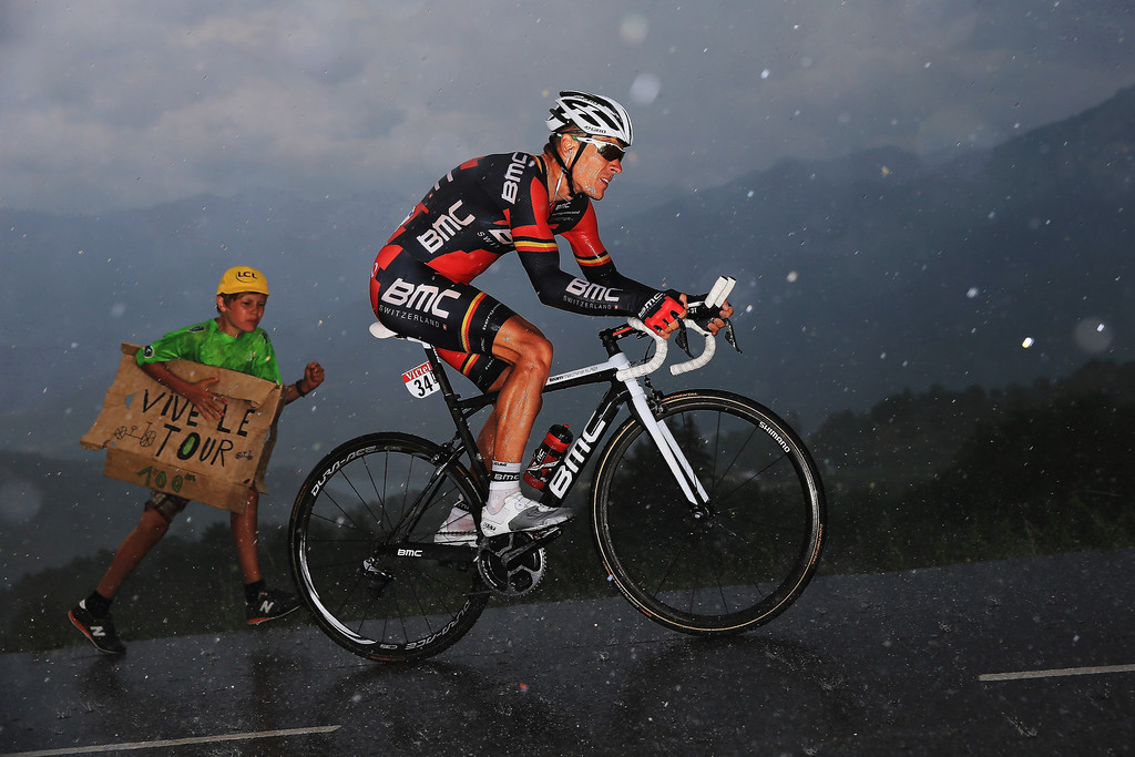 . CHORGES, FRANCE - JULY 17:  Philipe Gilbert of Belgium and BMC Racing Team rides during stage seventeen of the 2013 Tour de France, a 32KM Individual Time Trial from Embrun to Chorges, on July 17, 2013 in Chorges, France.  (Photo by Doug Pensinger/Getty Images)  *** BESTPIX ***