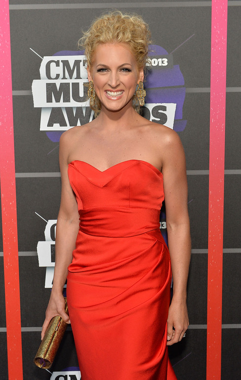. NASHVILLE, TN - JUNE 05:  Singer Kimberly Schlapman of Little Big Town attends the 2013 CMT Music awards at the Bridgestone Arena on June 5, 2013 in Nashville, Tennessee.  (Photo by Rick Diamond/Getty Images)