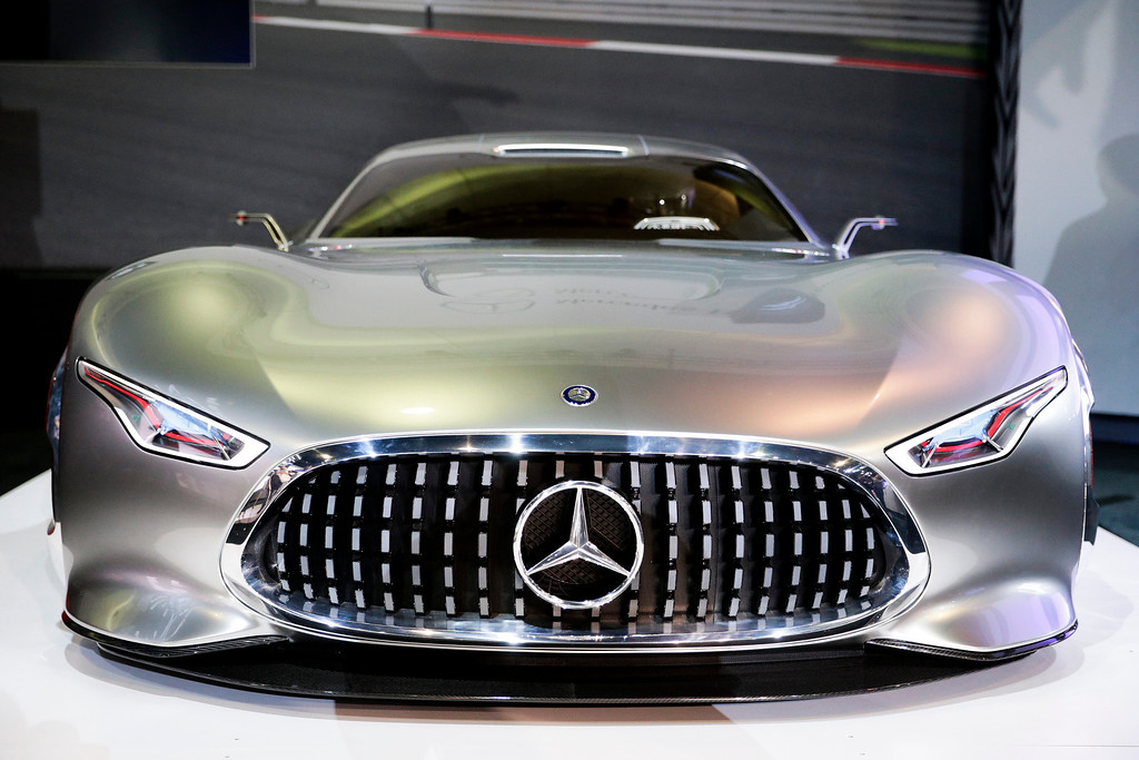 . The Mercedes-Benz AMG Vision Gran Turismo concept vehicle is introduced at the Los Angeles Auto Show on Wednesday, Nov. 20, 2013, in Los Angeles. (AP Photo/Jae C. Hong)