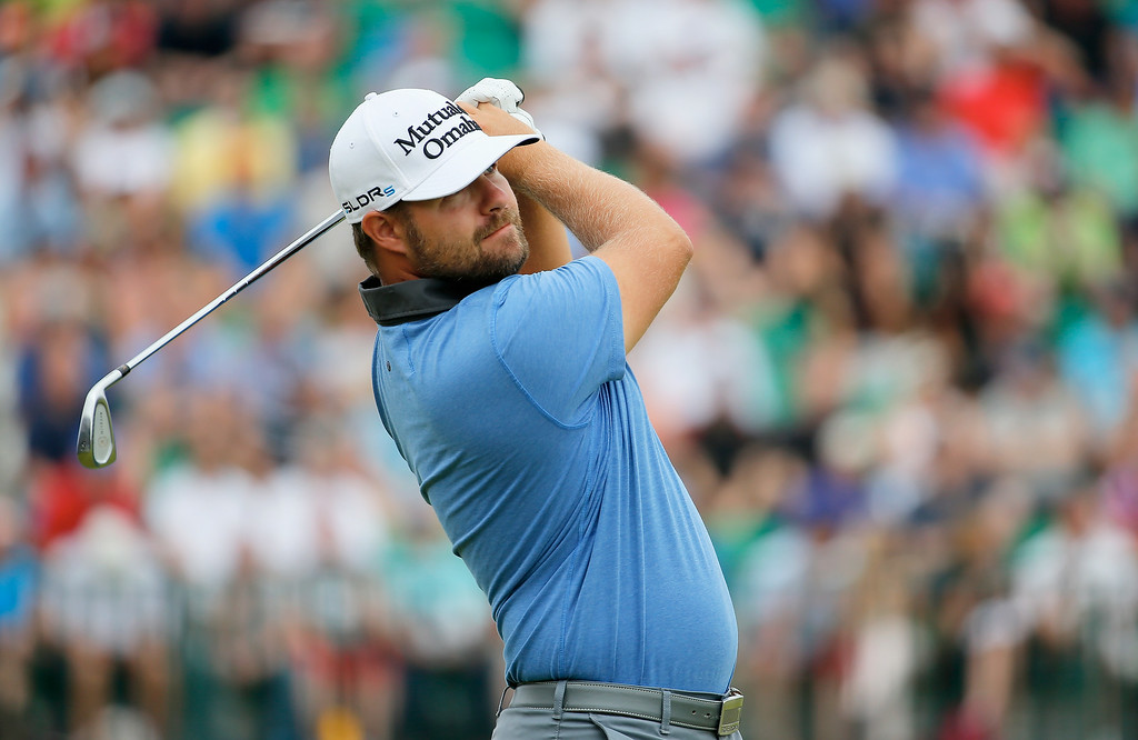 . Ryan Moore of the United States tees off on the 4th hole during the final round of The 143rd Open Championship at Royal Liverpool on July 20, 2014 in Hoylake, England.  (Photo by Tom Pennington/Getty Images)