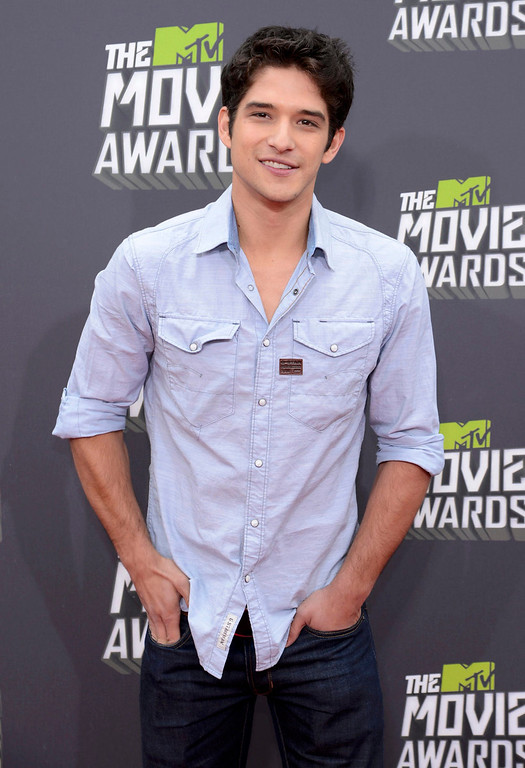 . Actor Tyler Posey arrives at the 2013 MTV Movie Awards in Culver City, California April 14, 2013.  REUTERS/Phil McCarten