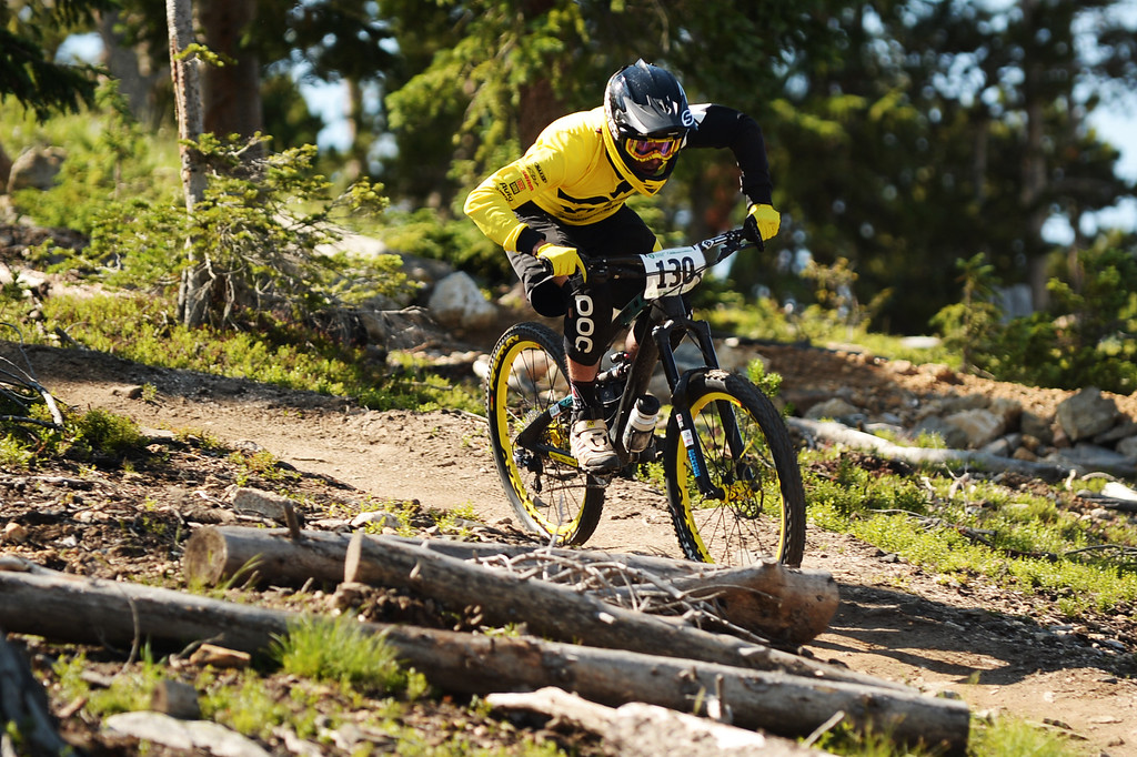 . WINTER PARK, CO. - July 26: Nate Hills is in the first stage of First international Enduro World Cup Championship ever in U.S. at Winter Park, Colorado. July 26, 2013. (Photo By Hyoung Chang/The Denver Post)