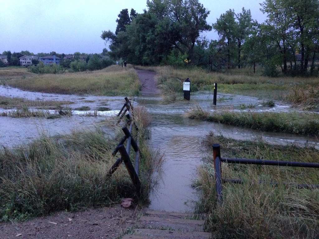 . Wonderland Lake Trail along Utica Ave. in Boulder. I took them earlier this morning around 6:30-7, I\'m sure it\'s gotten worse by now. Photo by Erin Dupuis