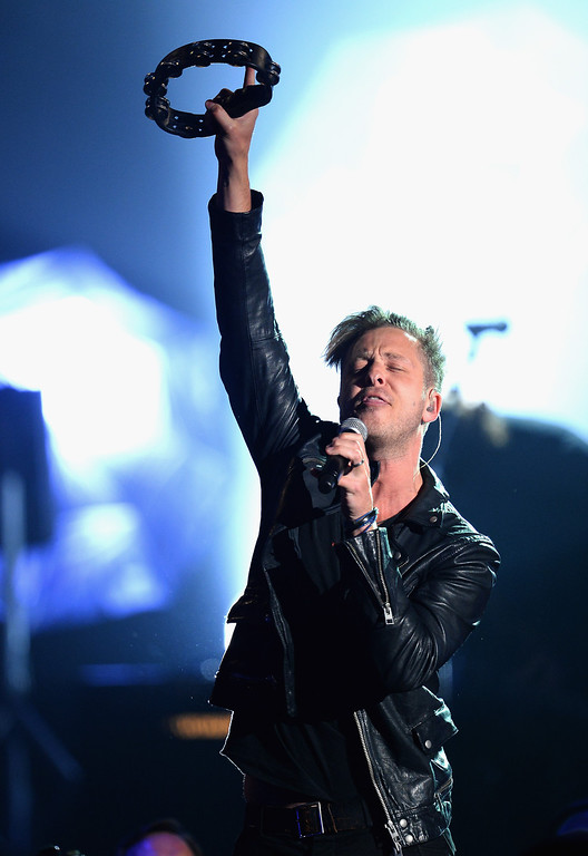 . Recording artist Ryan Tedder of OneRepublic performs onstage during the 2014 Billboard Music Awards at the MGM Grand Garden Arena on May 18, 2014 in Las Vegas, Nevada.  (Photo by Ethan Miller/Getty Images)