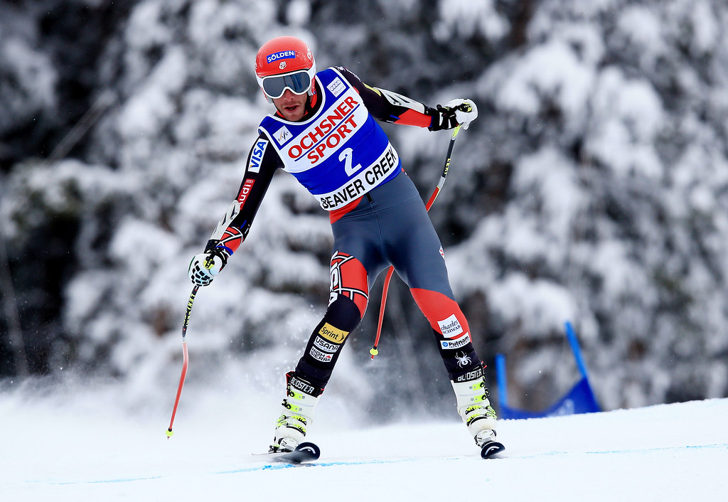 . Bode Miller of the United States in action during the 2013 Audi FIS Beaver Creek World Cup Men\'s Super G race on December 7, 2013 in Beaver Creek, Colorado.  (Photo by Doug Pensinger/Getty Images)