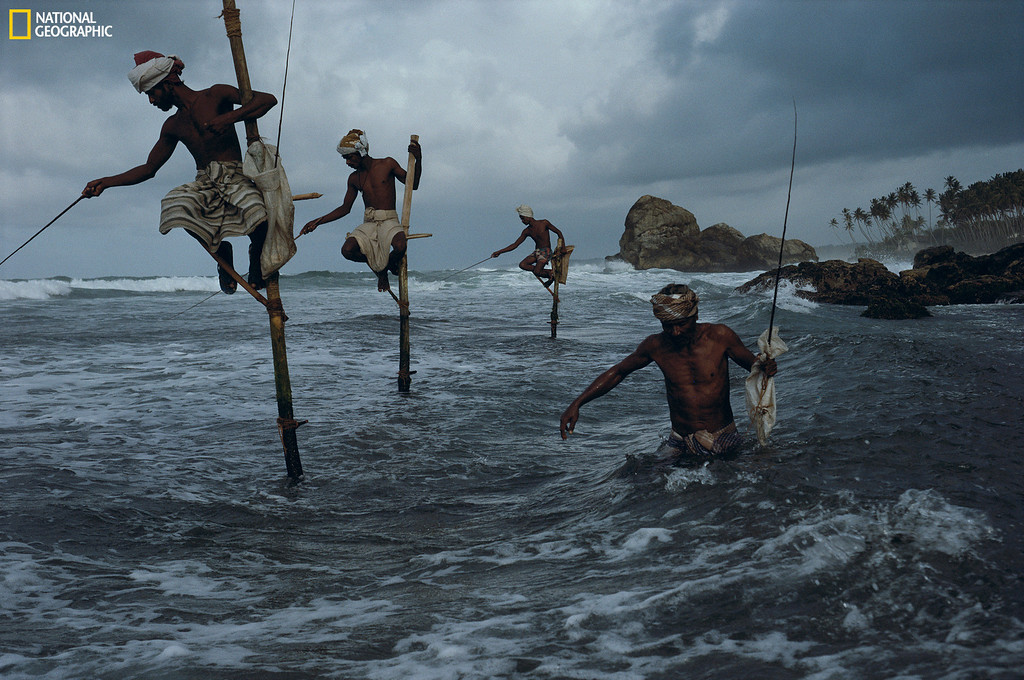 . 510632: STEVE MCCURRY/National Geographic Fishermen, Sri Lanka, 1995 Christie�s Auction: TIMELESS: NATIONAL GEOGRAPHIC AS CELEBRATED BY TASCHEN BOOKS www.christies.com/natgeo