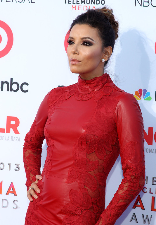 . Eva Longoria arrives at the NCLR ALMA Awards at the Pasadena Civic Auditorium on Friday, Sept. 27, 2013, in Pasadena, Calif. (Photo by Paul Hebert/Invision/AP Images)