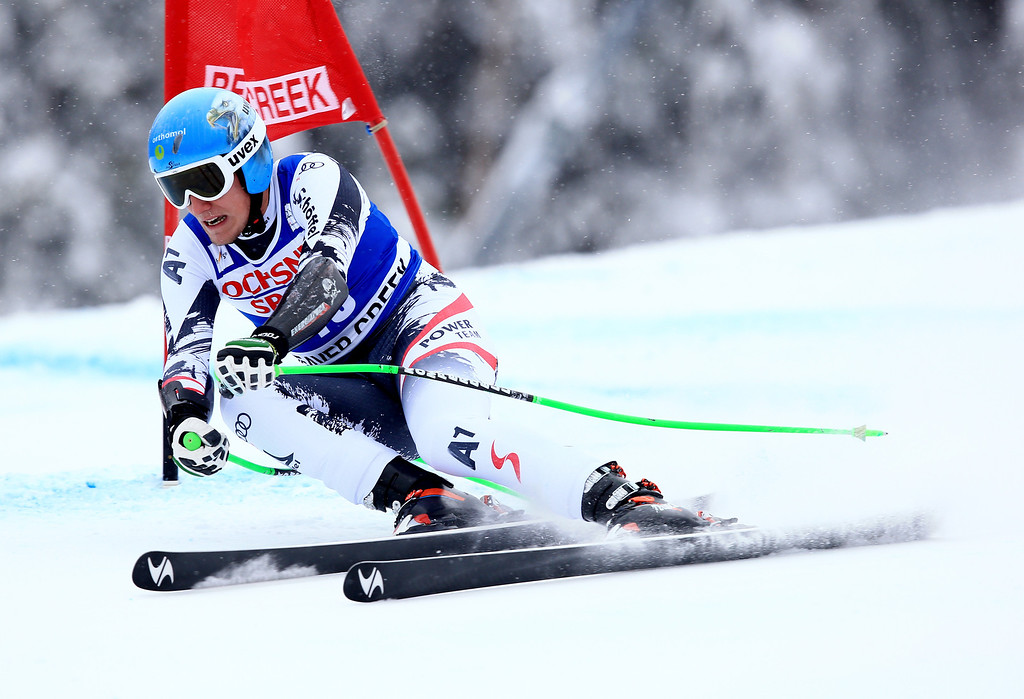 . Otmar Striedinger of Austria in action during the 2013 Audi FIS Beaver Creek World Cup Men\'s Super G race on December 7, 2013 in Beaver Creek, Colorado.  (Photo by Doug Pensinger/Getty Images)
