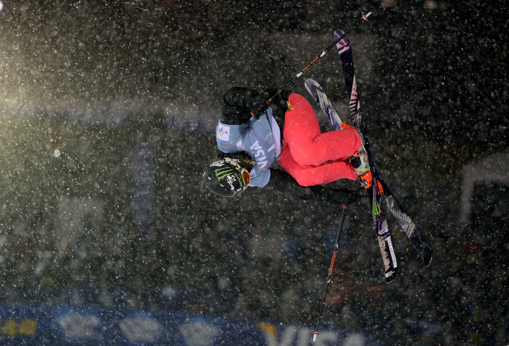 . COPPER MOUNTAIN, CO. DECEMBER 20: Devin Logan is in action during the ski halfpipe final U.S. Snowboarding Grand Prix. Copper Mountain, Colorado. December 20. 2013. (Photo by Hyoung Chang/The Denver Post)