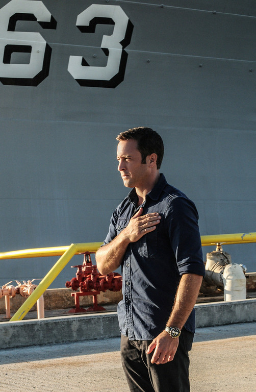. When McGarrett (Alex O\'Loughlin) prevents the murder of a Pearl Harbor veteran at a remembrance ceremony, Five-0 must use decades old evidence to investigate a heinous crime committed within the internment camps on Oahu during World War II, on HAWAII FIVE-0, Friday, Dec 13 (9:00-10:00 PM, ET/PT) on the CBS Television Network.  (Photo by Norman Shapiro/CBS Broadcasting)
