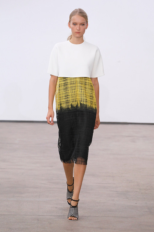 . In this photo provided by Derek Lam, the Derek Lam Spring 2014 collection is modeled during Fashion Week, Sunday, Sept. 8, 2013, in New York. (AP Photo/Derek Lam, Dan & Corina Lecca)