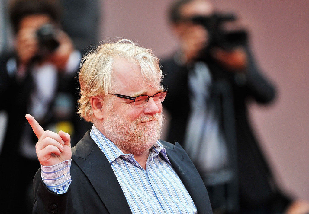 ". According to reports February 2, 2014, Philip Seymour Hoffman, 46, was found dead in his New York Cit apartment.  Actor Philip Seymour Hoffman attends ""The Master\"" Premiere during The 69th Venice Film Festival at the Palazzo del Cinema on September 1, 2012 in Venice, Italy.  (Photo by Gareth Cattermole/Getty Images)"