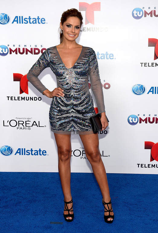 . MIAMI, FL - AUGUST 15:  Linda Candelo arrives for Telemundo\'s Premios Tu Mundo Awards at American Airlines Arena on August 15, 2013 in Miami, Florida.  (Photo by Gustavo Caballero/Getty Images)