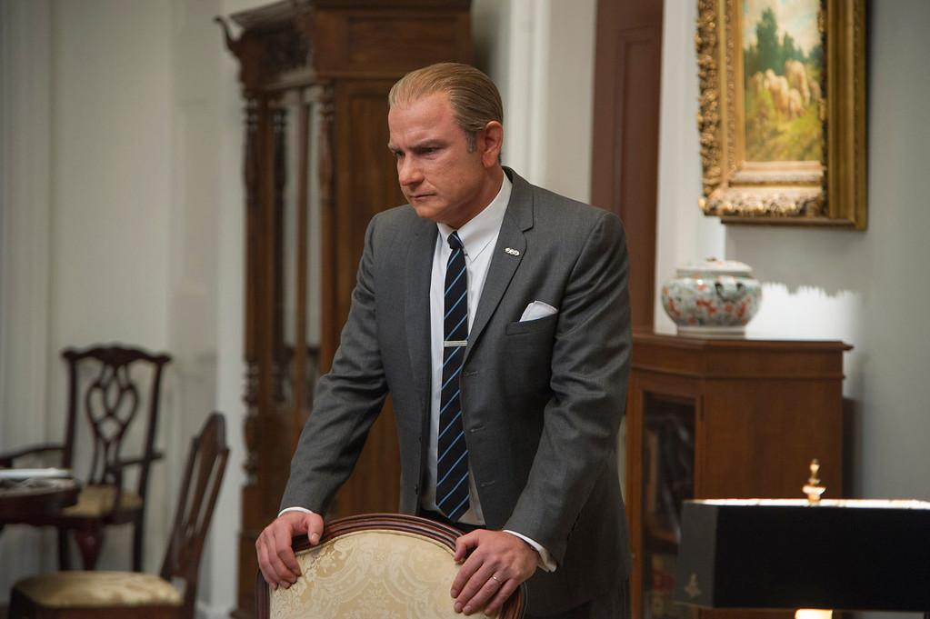 ". Liev Schreiber as Lyndon B. Johnson in a scene from \""Lee Daniels\' The Butler.\"" (AP Photo/The Weinstein Company, Anne Marie Fox)"