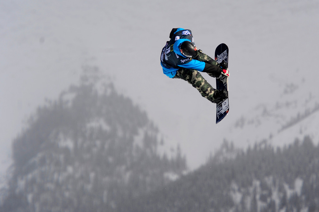 . Emil Andre Usletten rides during the slopestyle finals of the Copper Mountain Grand Prix.   (Photo by AAron Ontiveroz/The Denver Post)