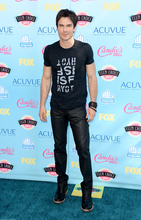 . Actor Ian Somerhalder attends the Teen Choice Awards 2013 at Gibson Amphitheatre on August 11, 2013 in Universal City, California.  (Photo by Jason Merritt/Getty Images)
